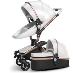 Maydolly 360 Rotation 2-in-1 Convertible Bassinet Sleeping Stroller