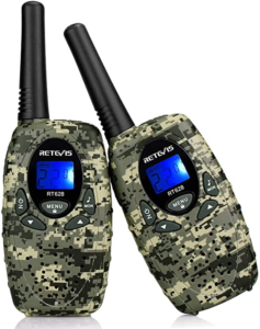 Retevis RT628 Walkie Talkies for Kids,22 Channels 2 Way Radio Long Range with LCD Display (1 Pair, Camouflage)